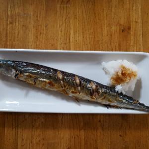 新秋刀魚を食べたよー!