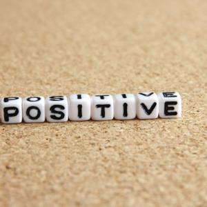 ポジティブは希望があっていいみたい。