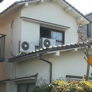 屋根置きエアコン2台取替え工事