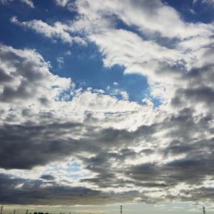台風の後  午後の雲