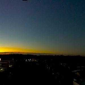 今日の朝の光