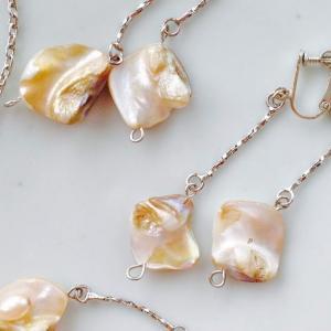 入荷:自然のままの美しさ 真珠のアクセサリー