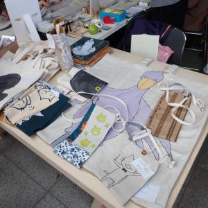大阪自然史フェスティバル、「旅するミシン店」さんのブースで買い物