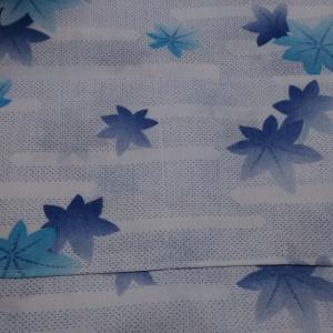 着物リメイクで巾着つきトートバッグ_②ポケット生地を縫い付けました