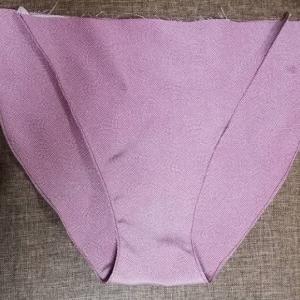 着物リメイクで姫パン作成_本体部分にステッチミシン入れました