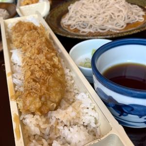 アナゴ一本天丼と蕎麦のセット
