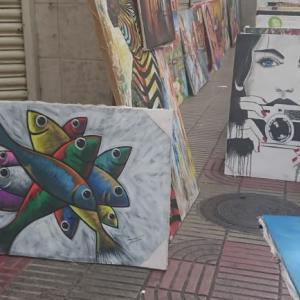 ドミニカ共和国で売られている絵