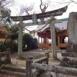 鶴羽田菅原神社(拝殿再建!)【熊本市北区鶴羽田】