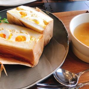 カフェ「LIANTIQUE」で食パン専門店「麥乃(むぎの)」のパンを使ったサンドイッチセット♪