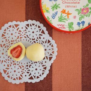 50代女子のおやつ 六花亭のストロベリーチョコホワイト