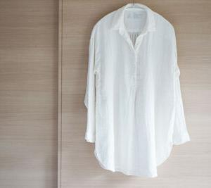 無印良品の綿ヘンプ二重ガーゼチュニックを部屋着にしました