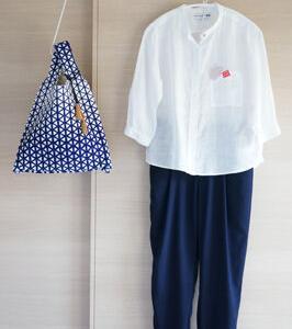 まだまだ着る!2014年ユニクロ×イネスのシャツと未使用バッグで50代初夏コーデ