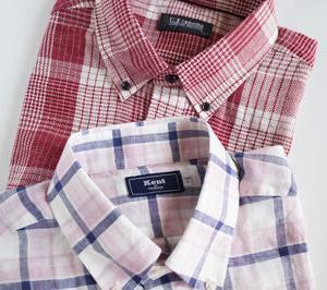 イトーヨーカドーのSALEで買った60代夫の休日用の綺麗色シャツ