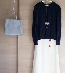 手持ちの服と先日買ったZARAのバッグで50代おめかしコーデ