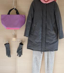 ユニクロボアスウェットパンツとエルベシャプリエで50代防寒コーデ
