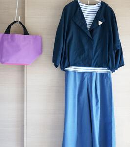 楽天ファッションで買ったBEAMS HEARTのワイドパンツで50代コーデ