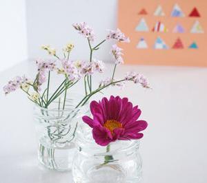【一輪挿し】柚子胡椒の空き瓶 & デンマークのかわいい花瓶