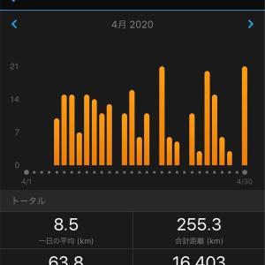 4月の走行距離と大凧マラソン(擬似)完走について