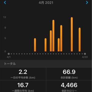 4月の距離と体重について