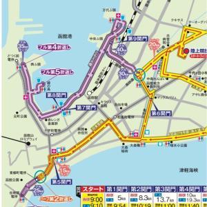 2019函館マラソン完走記③【大会本編】太腿死んだ。でも諦めないyo【給食にありつくまでは】