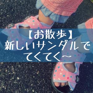 【お散歩】新しいサンダルでてくてく〜