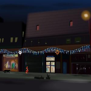 ある街の夜のKuro