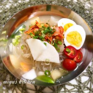 トンチミ(大根の水キムチ)で冷麺