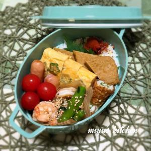 空芯菜と海老の炒め物のお弁当