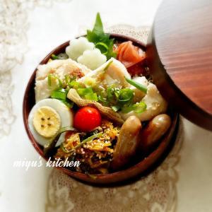 鶏胸肉のレンチン蒸しのお弁当