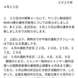 ANA便は5月9日が最終便