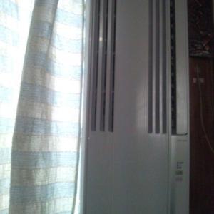 窓用エアコンを木枠の窓に取り付けてみた感想!ちょっと大変だった!