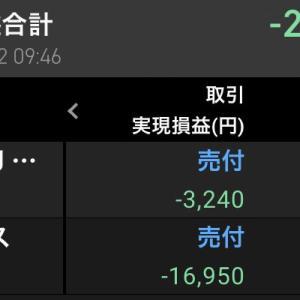 涙の損切り 〜株式投資4日目〜