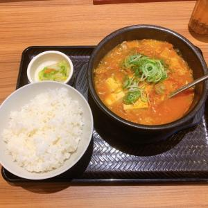 韓丼 大分中島店【大分県大分市 / スン豆腐定食(豚キムチ)】