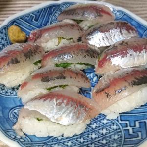 豆アジで にぎり寿司