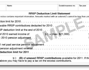 RRSP: 拠出限度額