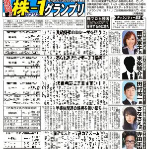 【株1GP 5月度予選に出場中】QDレーザ(6613)オキサイド(6521)日本電子(6951)