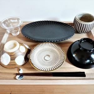 【無印良品】木製角形トレーで配膳が超時短に!豆皿も楽しめます♪