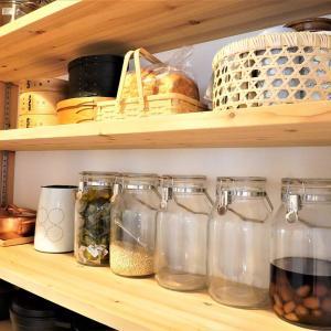 100均プラ収納をやめて竹かご収納に♪キッチンパントリー収納見直し!