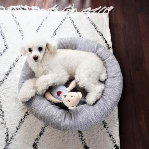 愛犬ひんやり♪カインズの接触冷感「カバーが洗えるまんまるベッド」