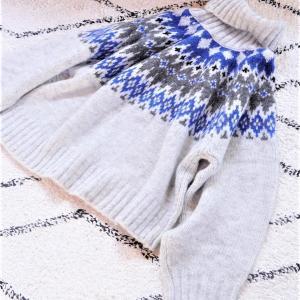 【H&M】ノルディック柄セーターに一目惚れ♪1枚で決まる冬コーデ♪