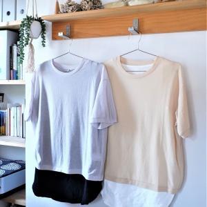 【ユニクロ】夏の新作プチプラシアー素材Tシャツ♪夏のレイヤードが楽しい♪