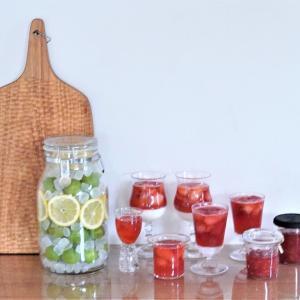 旬のフルーツを楽しむ保存食作り♪いちごジャム&ゼリー&梅シロップ作り♪
