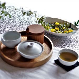 オノエコウタさんの器を水盤に使ってみたら素敵だった件&癒しのお茶時間