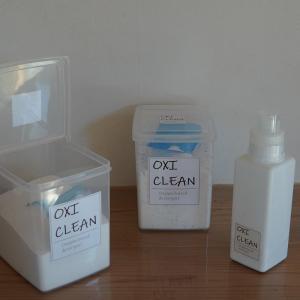 【100均収納】オキシなどの粉物洗剤にぴったりのおすすめ保存容器2つ&フラワーベースのオキシ漬け♪