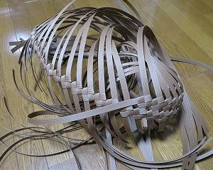 石畳編みの扇形バスケット、再び
