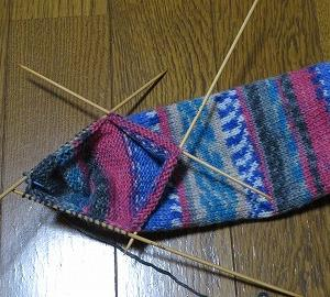 マチを編みました