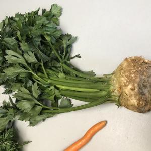 セロリアック(根セロリ)とジャガイモのピュレーを作る〜うさぎ飼いは夏に根セロリを買うのだ!