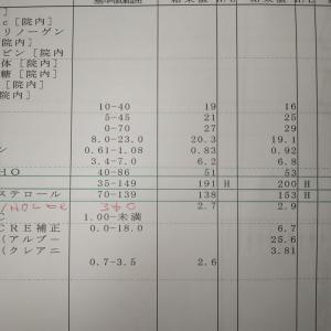 9月21日の血液検査の結果