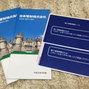 日本管財(9728)の株主優待と中間配当金 カタログギフト