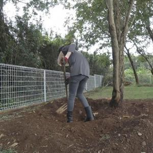 【DIY動画】ドッグランに砂利地帯発見【庭作り】